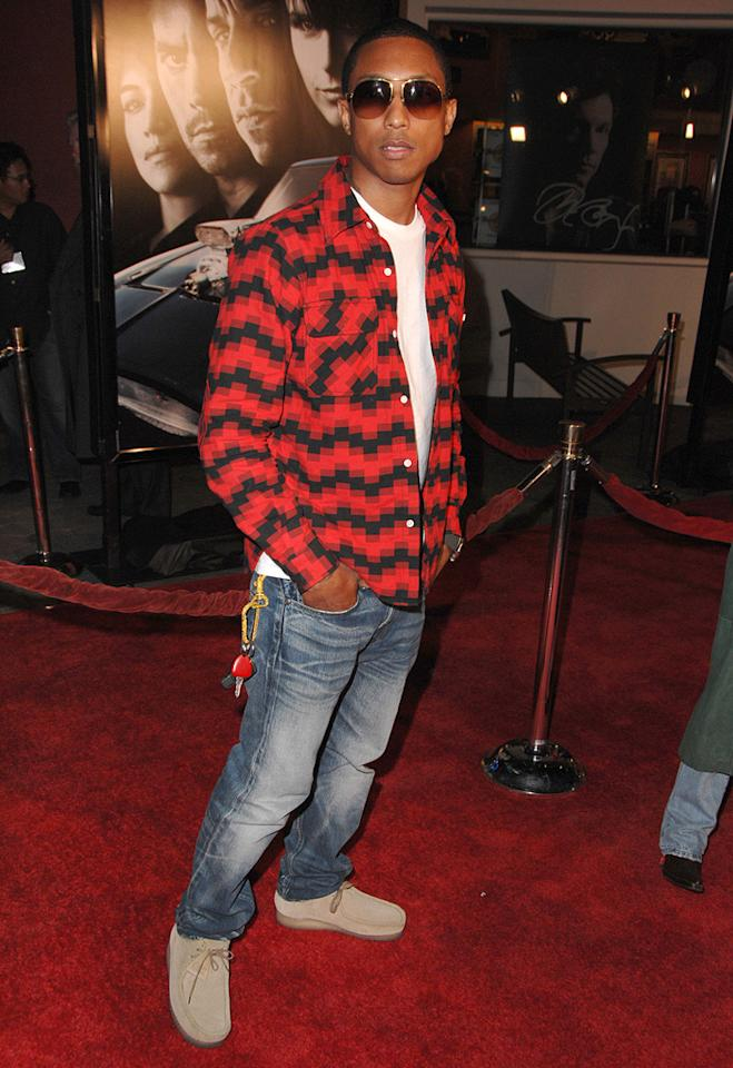 "<a href=""http://movies.yahoo.com/movie/contributor/1808477412"">Pharrell Williams</a> at the Los Angeles premiere of <a href=""http://movies.yahoo.com/movie/1809989992/info"">Fast & Furious</a> - 03/12/2009"