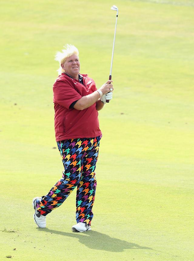 SHANGHAI, CHINA - OCTOBER 26: John Daly of the USA in action during the third round of the BMW Masters at Lake Malaren Golf Club on October 26, 2013 in Shanghai, China. (Photo by Andrew Redington/Getty Images)