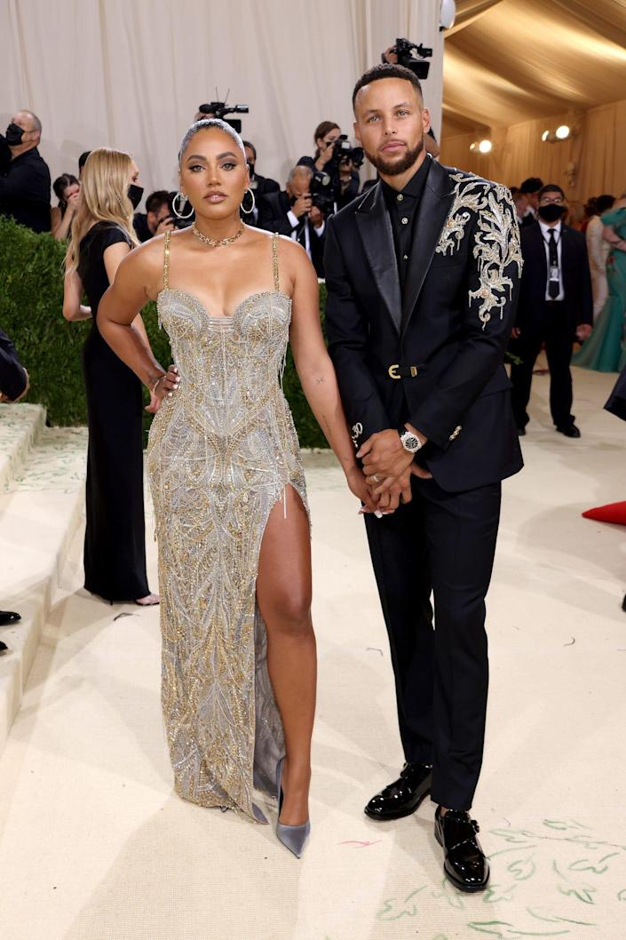 Ayesha and Stephen Curry at the 2021 Met Gala.