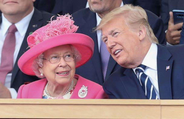 PHOTO: Queen Elizabeth II and President Donald Trump attend the D-day commemorations on June 5, 2019, in Portsmouth, England. (Chris Jackson/Pool via Getty Images, FILE)