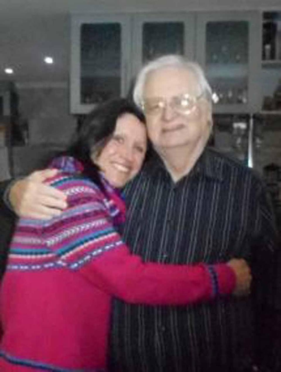 Yvonne pictured here with her dad, Alan, was completely broken when he passed away in September 2019 (Collect/PA Real Life).