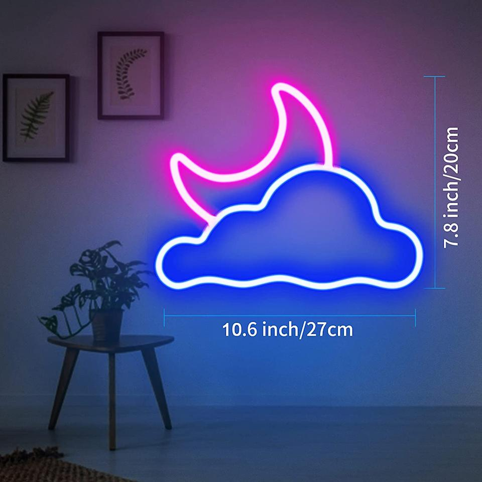 2-in-1 Moon and Cloud Neon Sign (Photo: Amazon)