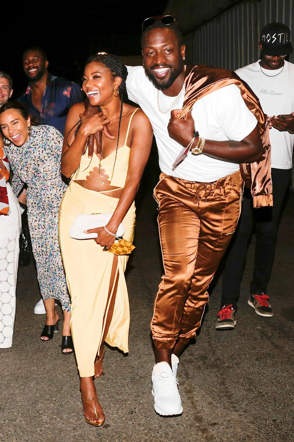 <p>Gabrielle Union and Dwyane Wade enjoy a night out at L'Opera Restaurant in Saint Tropez on August 29. </p>