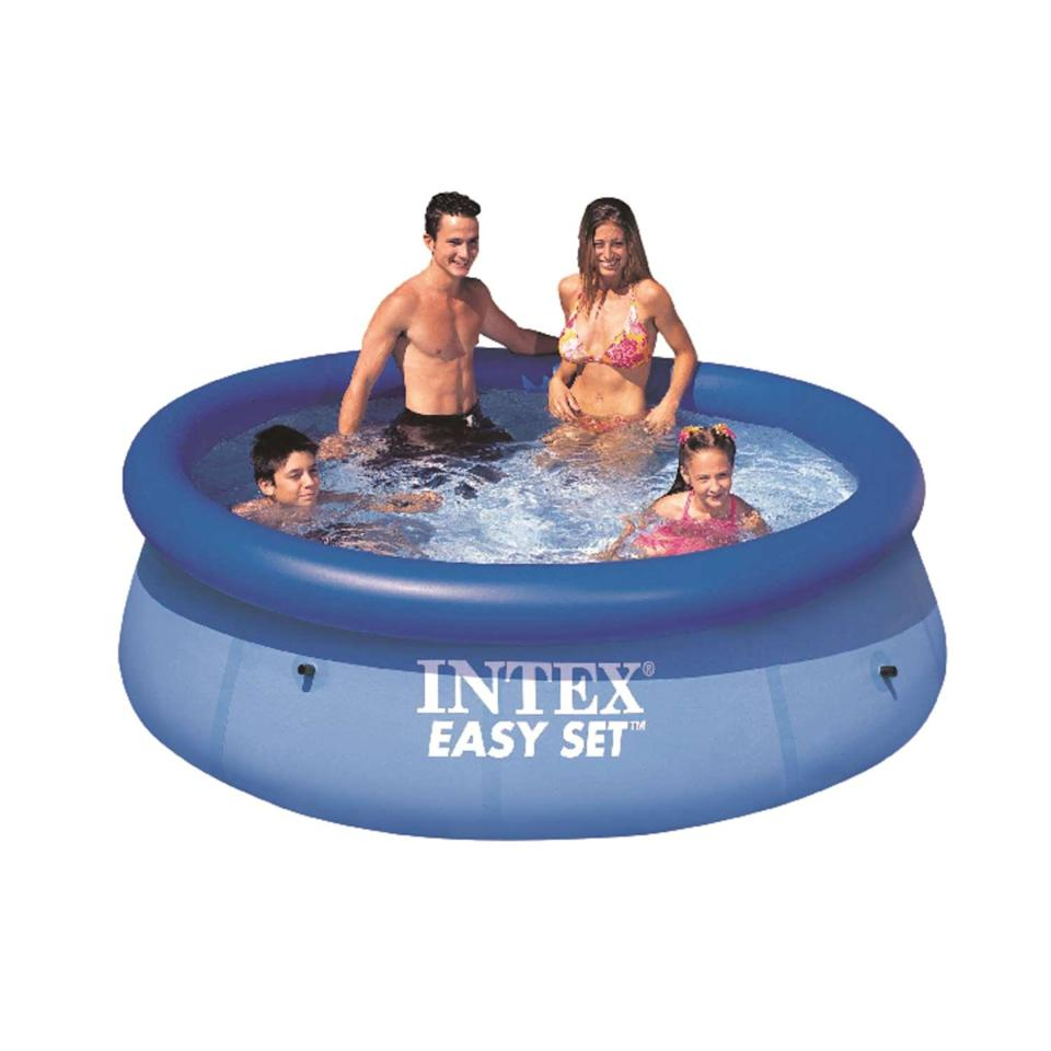 """<br><br><strong>Intex</strong> Easy Set 639 gal. Round Plastic Above Ground Pool, $, available at <a href=""""https://go.skimresources.com/?id=30283X879131&url=https%3A%2F%2Fwww.acehardware.com%2Fdepartments%2Foutdoor-living%2Fswimming-pools-spa-and-supplies%2Fswimming-pools%2F8304719"""" rel=""""nofollow noopener"""" target=""""_blank"""" data-ylk=""""slk:Ace Hardware"""" class=""""link rapid-noclick-resp"""">Ace Hardware</a>"""