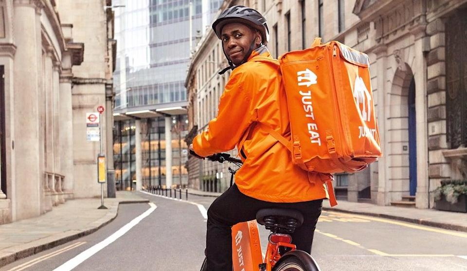 A Just Eat delivery driver in London (Just Eat - PR handout)