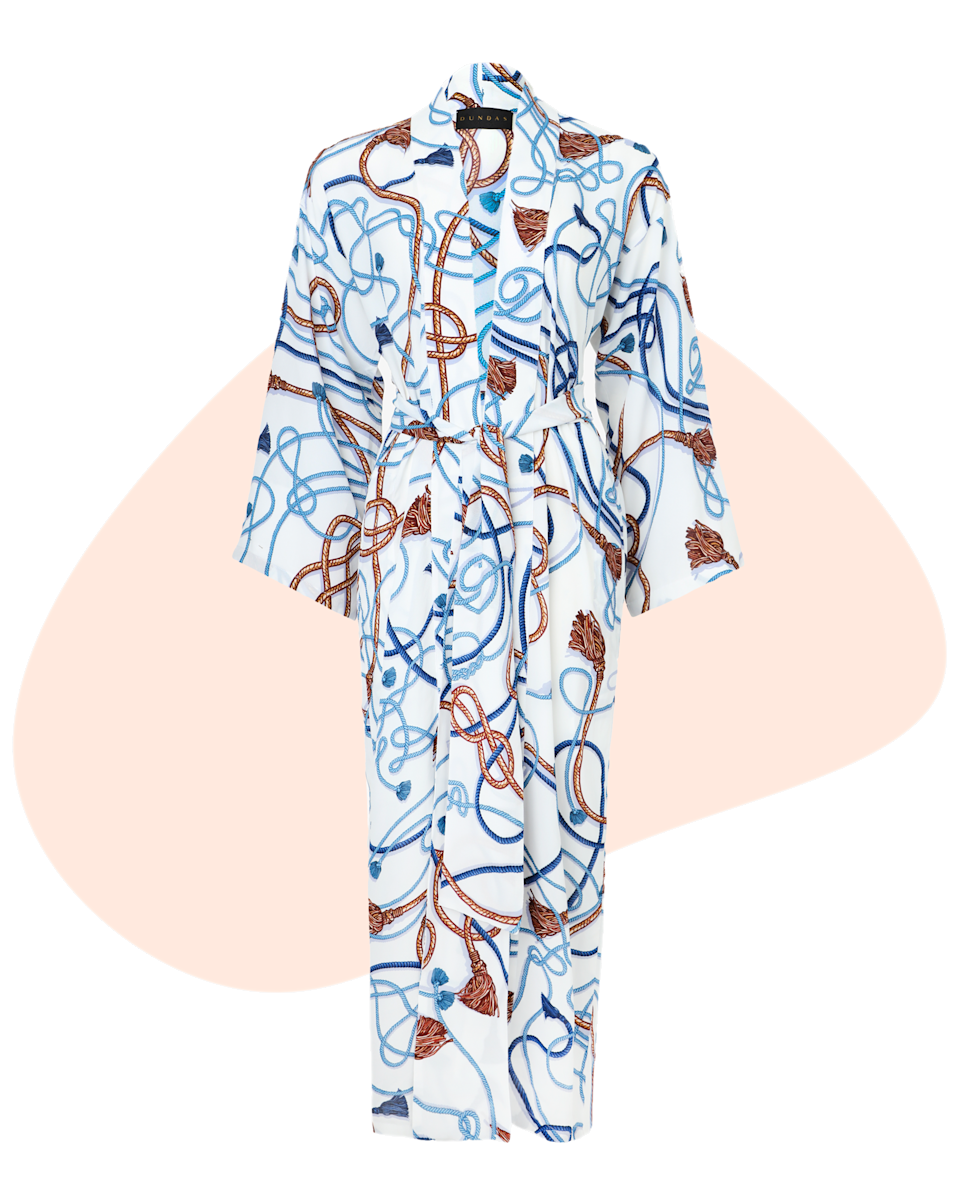 """This Dundas robe was created in collaboration with Childhood USA. A portion of the proceeds will help support Childhood USA's mission to end exploitation and violence against children. A great cause for a great woman in your life. $700, Dundas. <a href=""""https://us.dundasworld.com/products/rope-print-robe"""" rel=""""nofollow noopener"""" target=""""_blank"""" data-ylk=""""slk:Get it now!"""" class=""""link rapid-noclick-resp"""">Get it now!</a>"""