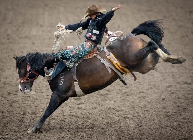Zeke Thurston rides Peigan Warrior in the saddle bronc event at the 2019 Calgary Stampede. Despite the pandemic, the sport has been slowly coming back to life in 2021 — but there's concern a recent, rogue event could threaten that.