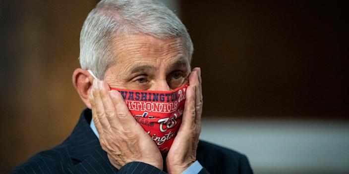 Dr. Anthony Fauci at a Senate Health, Education, Labor and Pensions Committee hearing on June 30, 2020 in Washington, DC.