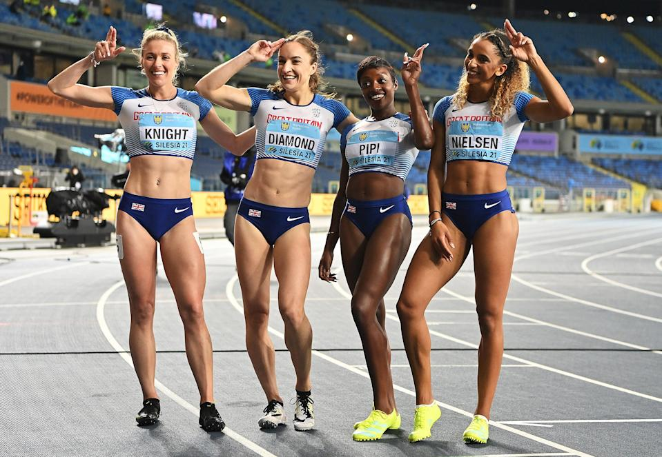 <p>Team GB were caught by Cuba and Poland on the final leg</p> (Getty Images)