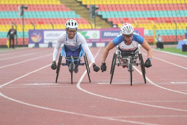 Cockroft (right) and Kare Adenegan led the way for Great Britain. Pic: Ben Booth Photography