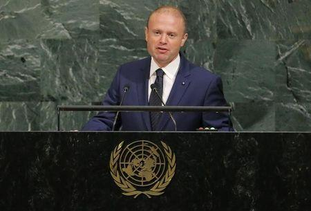 Malta Prime Minister Joseph Muscat addresses the 72nd United Nations General Assembly at U.N. headquarters in New York, U.S., September 22, 2017. REUTERS/Lucas Jackson
