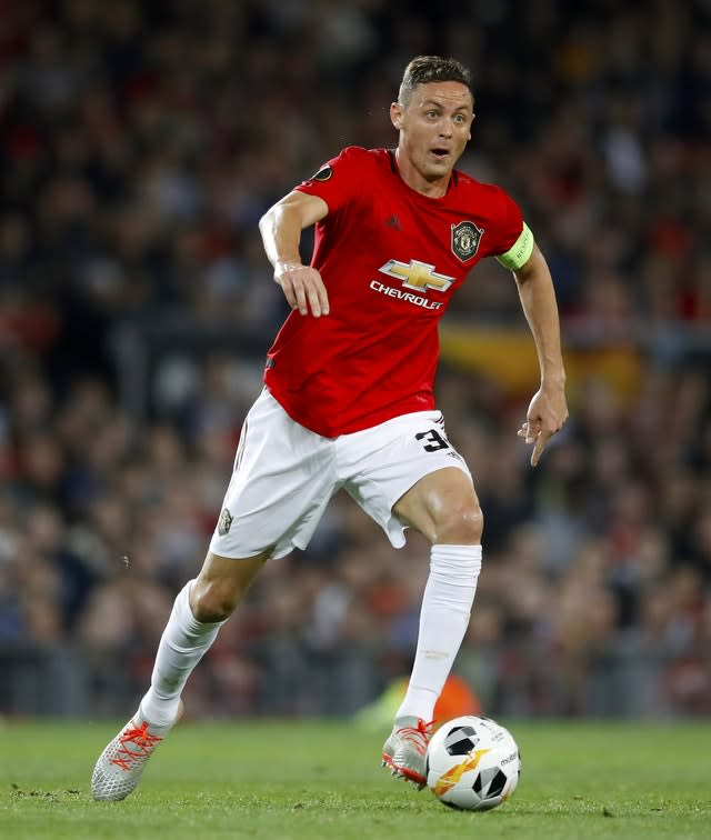 Manchester United's Nemanja Matic is reportedly a target for Jose Mourinho at Tottenham (Martin Rickett/PA)