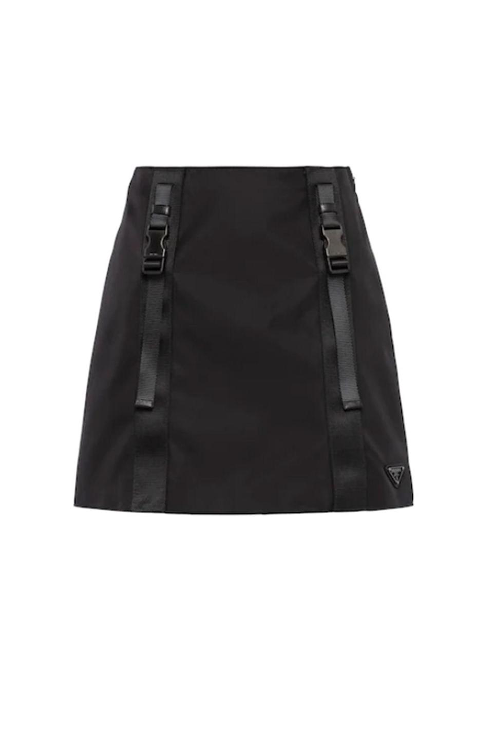 """<p><strong>Prada</strong></p><p>prada.com</p><p><strong>$1100.00</strong></p><p><a href=""""https://www.prada.com/us/en/women/ready_to_wear/skirts/products.re-nylon_gabardine_miniskirt.21H875_1YFL_F0002_S_202.html"""" rel=""""nofollow noopener"""" target=""""_blank"""" data-ylk=""""slk:Shop Now"""" class=""""link rapid-noclick-resp"""">Shop Now</a></p><p>""""Nylon is a signature fabric for Prada, and in an effort to be more sustainable, the company has committed to converting all virgin nylon into regenerated nylon by the end of this year. The durable material is made up of fishing nets, discarded nylon and other industrial waste to create shoes, bags, and as of last year, ready-to-wear. This mini skirt will be perfect for warm summer days ahead."""" - <em>MaryKate Boylan, Senior Fashion Editor</em></p>"""