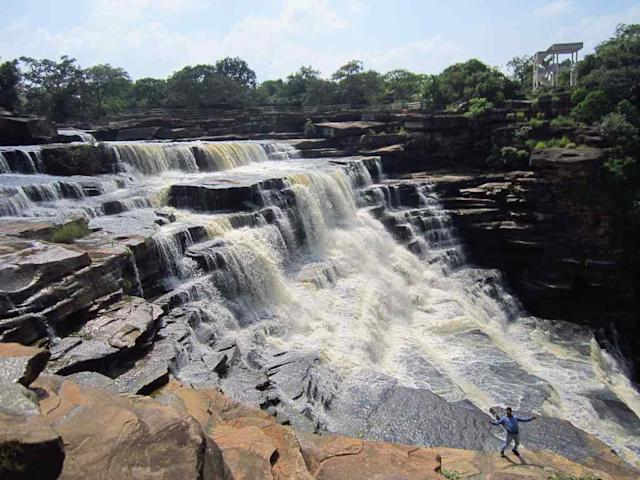 "Rajdari Waterfall inside Chandraprabha National Park (near Varanasi), Chandauli, Uttar Pradesh, India <br>By <a href=""https://www.flickr.com/photos/prk_delhi/"" rel=""nofollow noopener"" target=""_blank"" data-ylk=""slk:prk.delhi"" class=""link rapid-noclick-resp"">prk.delhi</a>"