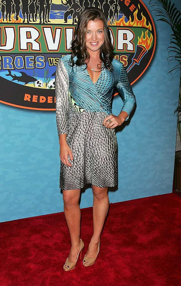 """Survivor: Heroes vs. Villains"" runner-up Pavarti Shallow was robbed of the win this season, but she certainly bested winner Sandra Diaz-Twine and second runner-up Russell Hantz at the red carpet reunion in her fab frock and peep-toe Louboutins. Jim Spellman/<a href=""http://www.wireimage.com"" target=""new"">WireImage.com</a> - May 16, 2010"