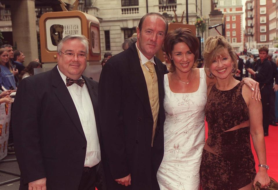 Stars of the Channel Four soap 'Brookside' arrive at the British Academy Television Awards (BAFTAs) at Grosvenor House in London. From left: Michael Starke, Dean Sullivan, Claire Sweeney and Sue Jenkins