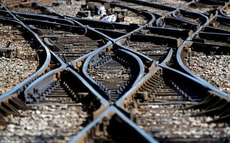 Rail tracks are seen at the French state-owned railway company SNCF station in Marseille, France, March 14, 2018. REUTERS/Jean-Paul Pelissier