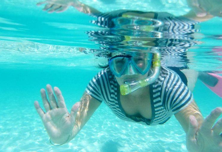 Hoey said she could barely walk, but was able to snorkel (SWNS)