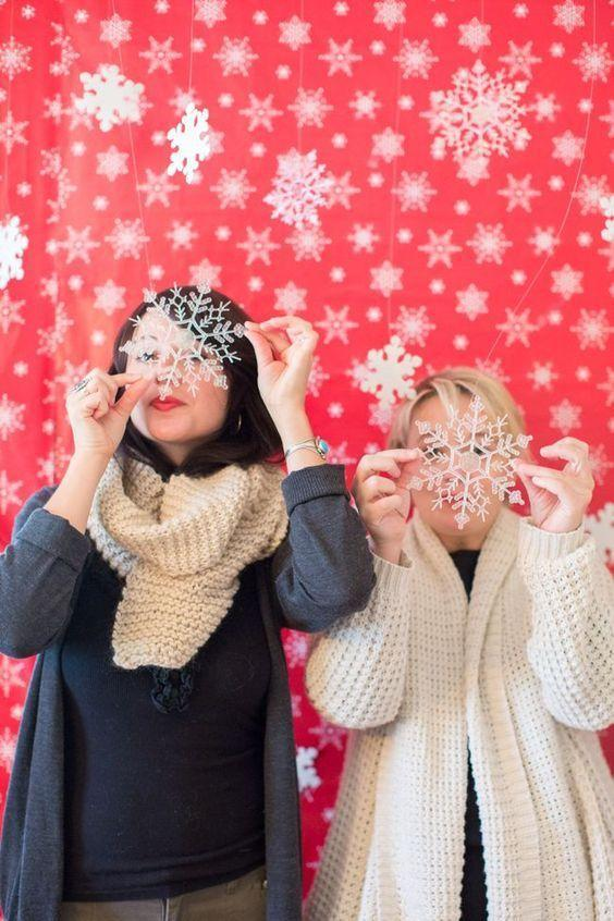 """<p>Encourage guests to dress up in their holiday finest, turn up the festive music, have some holiday punch and holiday hors d'oeuvres at the ready, and set up a cute photo backdrop for you and your friends to ham it up in front of. Have a few Christmas props and holiday face masks on hand—put your DIY skills to good use and <a href=""""http://www.brit.co/diy-photo-booth/"""" rel=""""nofollow noopener"""" target=""""_blank"""" data-ylk=""""slk:make your own masks"""" class=""""link rapid-noclick-resp"""">make your own masks</a> or go on <a href=""""https://go.redirectingat.com?id=74968X1596630&url=https%3A%2F%2Fwww.etsy.com%2Flisting%2F208366092%2F46-hilarious-christmas-photo-booth-props%3Fgclid%3DCKHIjcKTsNACFZBMDQodfAACsQ&sref=https%3A%2F%2Fwww.countryliving.com%2Fdiy-crafts%2Fhow-to%2Fg2218%2Fchristmas-party-ideas%2F"""" rel=""""nofollow noopener"""" target=""""_blank"""" data-ylk=""""slk:Etsy to purchase printable ones"""" class=""""link rapid-noclick-resp"""">Etsy to purchase printable ones</a>.</p>"""