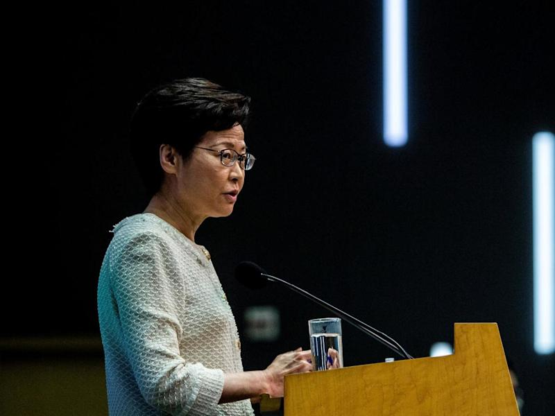 Wolfson College has said it will consider Carrie Lam's honorary fellowship: ISAAC LAWRENCE/AFP via Getty Images