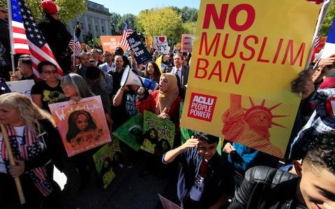 "The US Supreme Court handed a legal victory to Donald Trump, ruling that his travel ban can be fully enforced pending an appeal. Mr Trump's ban, now in its third iteration, bars travel to the US by residents of six predominantly Muslim countries - Chad, Iran, Libya, Somalia, Syria and Yemen. Seven of the court's nine justices agreed to lift two injunctions imposed by lower appeal courts two months ago that had partially blocked the ban while legal challenges to it continue. The ruling meant the open-ended policy could take full effect while those legal challenges are resolved. It was not a final ruling. A White House spokesman said: ""We are not surprised by today's Supreme Court decision permitting immediate enforcement of the president's proclamation limiting travel from countries presenting heightened risks of terrorism. ""The proclamation is lawful and essential to protecting our homeland. We look forward to presenting a fuller defence of the proclamation as the pending cases work their way through the courts."" In a statement, Attorney General Jeff Sessions called the Supreme Court's action ""a substantial victory for the safety and security of the American people."" Mr Sessions said the Trump administration was heartened that a clear majority of the justices ""allowed the president's lawful proclamation protecting our country's national security to go into full effect."" There have been protests against the ban Credit: Manuel Balce Ceneta/AP Two of the Supreme Court's liberal justices, Ruth Bader Ginsburg and Sonia Sotomayor, said they would have denied the Trump administration's request to lift the injunctions. Mr Trump announced the latest version of the ban in September, which led to immediate challenges in US appeals courts in Virginia and California. Opponents in those cases argued that the measure targeted Muslims in violation of the US Constitution, and did not advance security goals as the government claimed. They convinced the two appeals courts to put implementation of the ban on hold while they and government lawyers argued out the case. But the Trump administration has now secured support from the Supreme Court to move ahead with implementing it while the appeals in Virginia and California continue. Hearings are expected in both those cases this week, meaning the ban could wind its way back to to the Supreme Court again in a matter of months. Ahead of the Supreme Court's decision on Monday lawyers for the Trump administration had argued the policy was crucial to protect US national security, and that it was based on a ""comprehensive"" worldwide review. Donald Trump's travel ban The US Justice Department argued that it ""justifies the president's finding that the national interest warrants the exclusion of certain foreign nationals, and conclusively rebuts respondents' claims that the entry restrictions were motivated by animus rather than protecting national security"".  The state of Hawaii and the International Refugee Assistance Project, which had opposed the ban, argued to the Supreme Court that ""the president's third travel ban, like his first and his second, is irreconcilable with the immigration laws and the Constitution"". ""President Trump's anti-Muslim prejudice is no secret - he has repeatedly confirmed it, including just last week on Twitter,"" American Civil Liberties Union lawyer Omar Jadwat said, referring to the president re-tweeting anti-Muslim videos posted by a far-right British party leader.  ""It's unfortunate that the full ban can move forward for now, but this order does not address the merits of our claims. We continue to stand for freedom, equality and for those who are unfairly being separated from their loved ones,"" Jadwat added. At a glance 