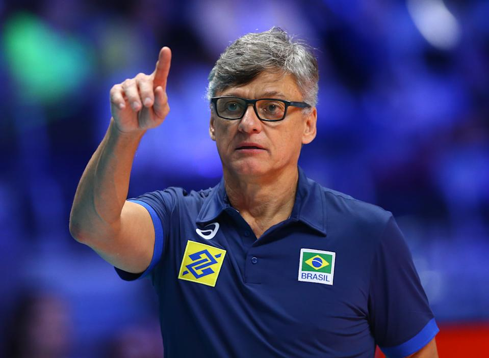 Poland v Brazil - FIVP Men's World Championship Final Coach of Brazil Renan Dal Zotto at Pala Alpitour in Turin, Italy on September 30, 2018  (Photo by Matteo Ciambelli/NurPhoto via Getty Images)