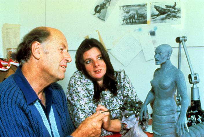 Ray Harryhausen working on the Medusa monster seen in 'Clash of the Titans' (Photo: Courtesy Everett Collection)