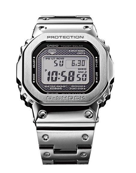 "<p>Based on the first ever G-Shock made more than three decades ago, the retro, rectangular stainless steel case belies all sorts of whizzy tricks, including Bluetooth, world time for 300 cities and smartphone connectivity.</p><p><a class=""body-btn-link"" href=""https://go.redirectingat.com?id=127X1599956&url=https%3A%2F%2Fg-shock.co.uk%2Fgmw-b5000d-1er%3Fgclid%3DCj0KCQiAm4TyBRDgARIsAOU75sohyhRF4-I8S0JqOt0vlx_Jec7gLwUozoRT_gWeE9dEAFWGDz48C3gaAoBEEALw_wcB&sref=https%3A%2F%2Fwww.esquire.com%2Fuk%2Fstyle%2Fwatches%2Fg30860147%2Fbest-casio-g-shock-watches-for-men%2F"" target=""_blank"">SHOP</a></p><p>£450, g-shock.co.uk</p>"