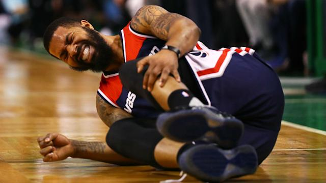 Wizards forward Markieff Morris went down in the first half of Game 1 with an ugly ankle injury. The Celtics outscored the Wizards 81-66 from that point forward.