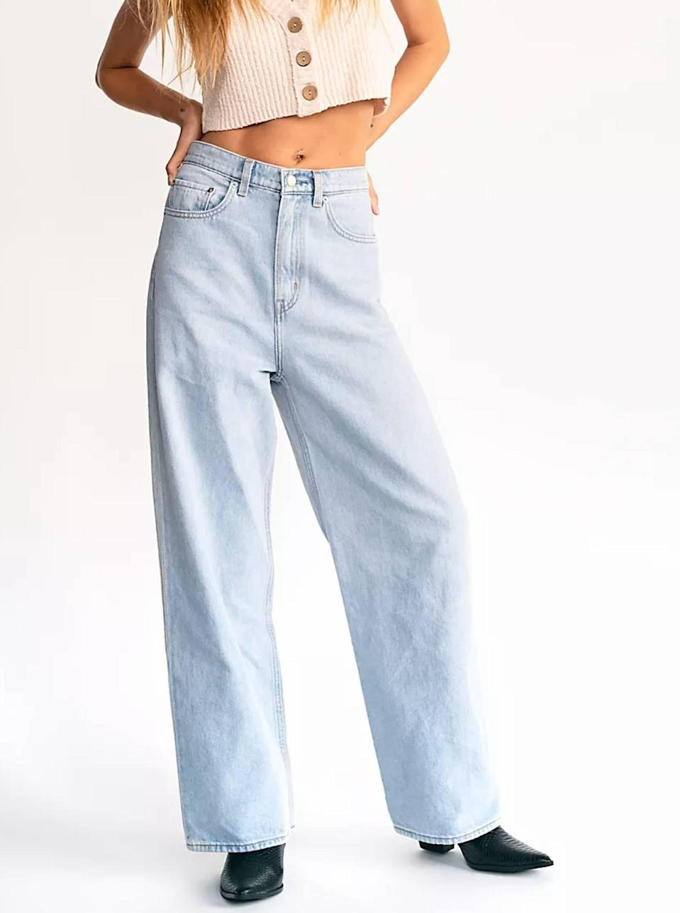 """$98, Free People. <a href=""""https://www.freepeople.com/shop/high-loose-jeans/?"""" rel=""""nofollow noopener"""" target=""""_blank"""" data-ylk=""""slk:Get it now!"""" class=""""link rapid-noclick-resp"""">Get it now!</a>"""