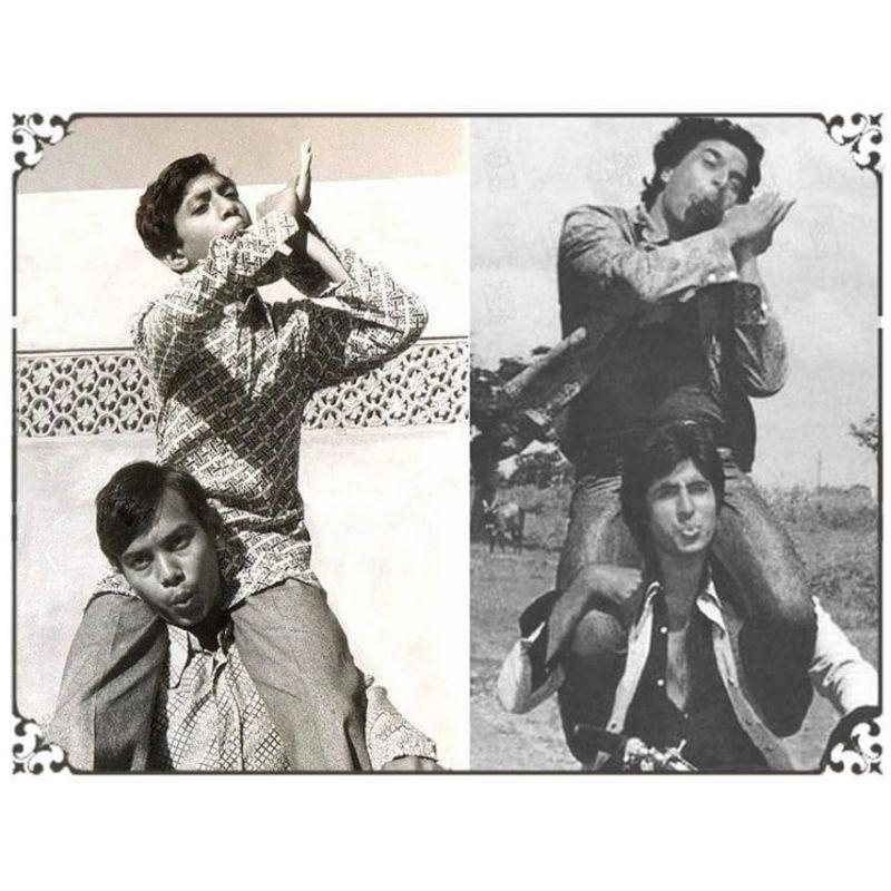 Irrfan Khan copies the iconic duo of Jai-Veeru from 'Sholay'. Khan made his film debut with a small role in 'Salaam Bombay!' (1988), which was followed by years of struggle.