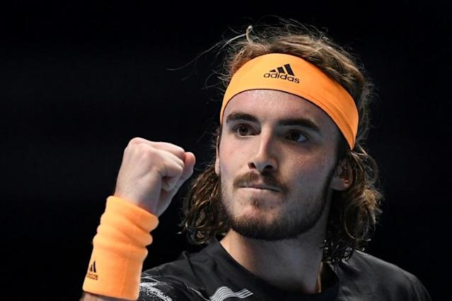 Stefanos Tsitsipas beat Roger Federer to reach the final of the ATP Finals (AFP Photo/Daniel LEAL-OLIVAS)
