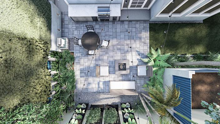 Every rendering comes with a 360° view and an aerial view.