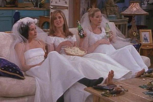 <p>Has there ever been a more iconic television moment than Monica Geller, Rachel Green, and Phoebe Buffay lounging around in wedding dresses they bought just for the sake of it? No, I think not. </p>