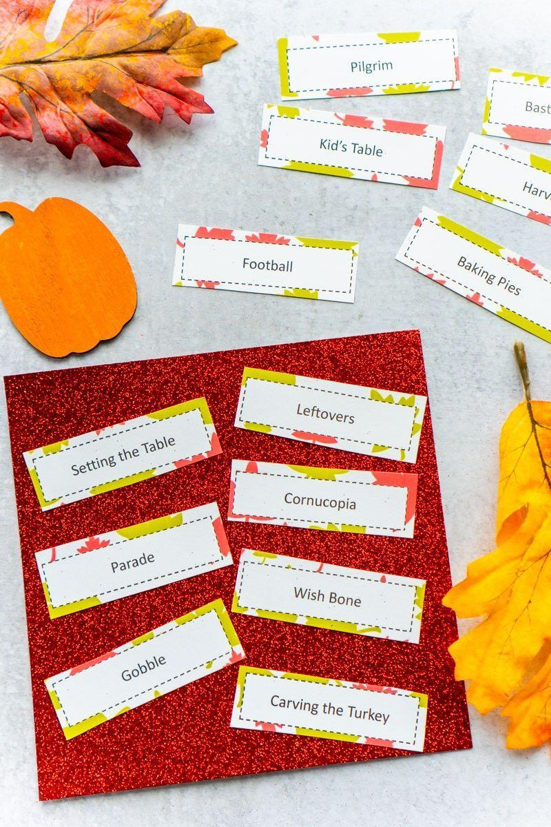 """<p>Everyone can take part in this classic game with a Thanksgiving twist. It even comes with free printables, so all you have to do is play!</p><p><strong>Get the tutorial at <a href=""""https://www.playpartyplan.com/thanksgiving-charades-topics/"""" rel=""""nofollow noopener"""" target=""""_blank"""" data-ylk=""""slk:Play Party Plan"""" class=""""link rapid-noclick-resp"""">Play Party Plan</a>.</strong></p><p><strong><a class=""""link rapid-noclick-resp"""" href=""""https://www.amazon.com/Construction-Assorted-Painting-Coloring-Creating/dp/B01HZMPH08/ref=sr_1_1_sspa?tag=syn-yahoo-20&ascsubtag=%5Bartid%7C10050.g.4698%5Bsrc%7Cyahoo-us"""" rel=""""nofollow noopener"""" target=""""_blank"""" data-ylk=""""slk:SHOP CONSTRUCTION PAPER"""">SHOP CONSTRUCTION PAPER</a><br></strong></p>"""