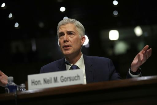 US Supreme Court Justice Neil Gorsuch at his March 2017 Senate confirmation hearings