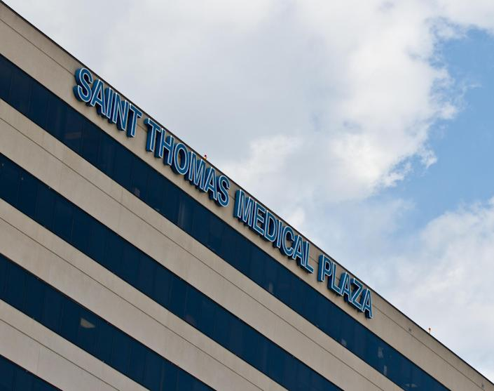 The Saint Thomas Medical Plaza building is seen in Nashville, Tenn., on Wednesday, Oct. 3, 2012. An outbreak of a rare and deadly form of meningitis that has sickened more than two dozen people was first detected among patients treated at the Saint Thomas Outpatient Neurosurgery Center located in the building. (AP Photo/Erik Schelzig)
