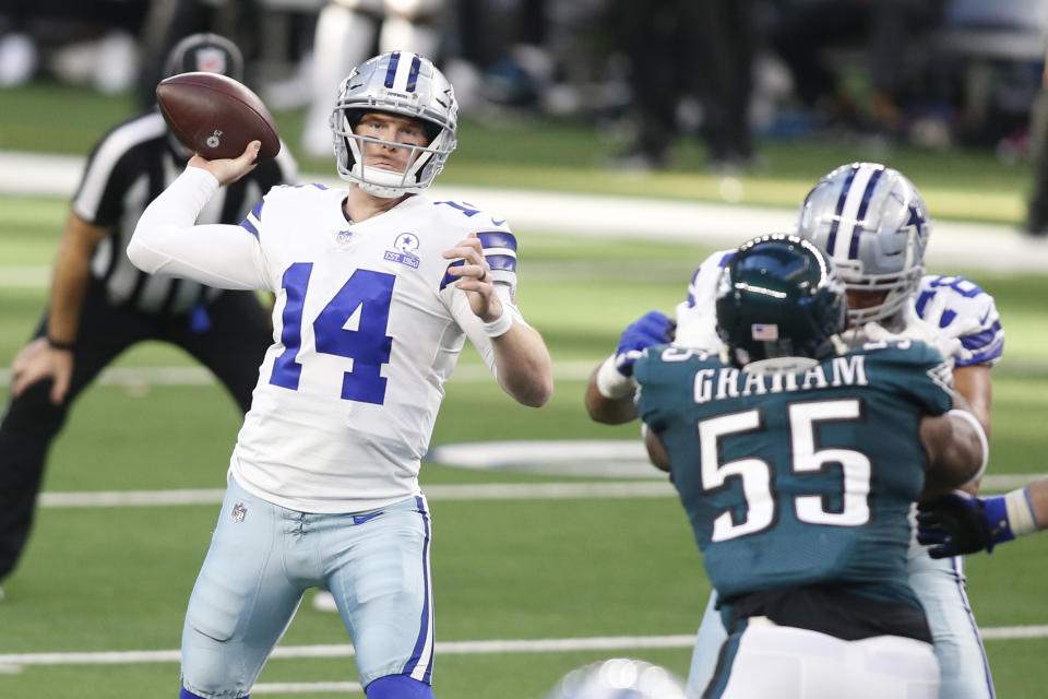 Andy Dalton's best day with the Cowboys kept playoff hopes alive in Dallas. (Tim Heitman/Reuters)