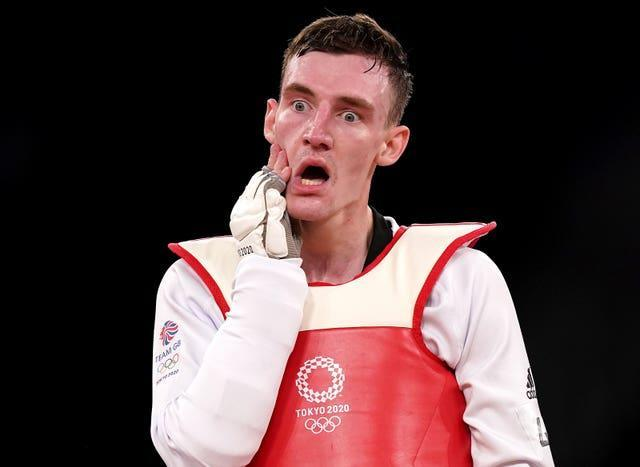 Bradly Sinden was dejected to miss out on gold on Sunday