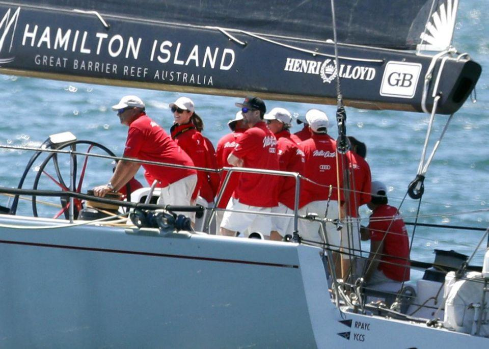 The royals were aboard Wild Oats XI Photo: Diimex