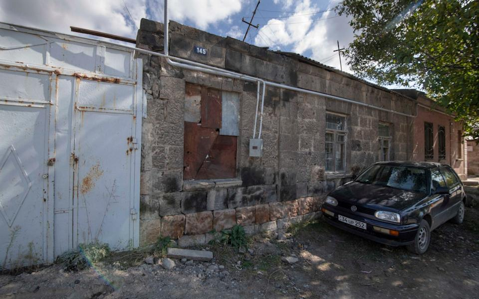 The dilapidated ancestral home of Kim Kardashian visited by The Sunday Telegraph this week