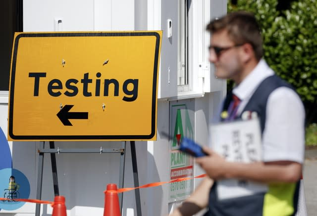 A Covid-19 testing centre at Bradford University in West Yorkshire (Danny Lawson/PA)