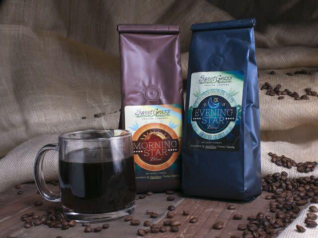 """Give your host a caffeine boost with this blend, available in both Morning Star and Evening Star varieties. The company &mdash; which is a subsidiary of the economic development corporation of Nebraska&rsquo;s Winnebago Tribe &mdash; boasts a <a href=""""https://www.sweetgrasstradingco.com/native-scholarship-program/"""" rel=""""nofollow noopener"""" target=""""_blank"""" data-ylk=""""slk:Native Scholarship Program"""" class=""""link rapid-noclick-resp"""">Native Scholarship Program</a> for college students who are enrolled members of tribes on reservations in the organization&rsquo;s sales area.&lt;br&gt;&lt;br&gt;<strong><a href=""""https://www.sweetgrasstradingco.com/product/sweetgrass-coffee/"""" rel=""""nofollow noopener"""" target=""""_blank"""" data-ylk=""""slk:SweetGrass Coffee"""" class=""""link rapid-noclick-resp"""">SweetGrass Coffee</a>, starting at $11</strong>"""