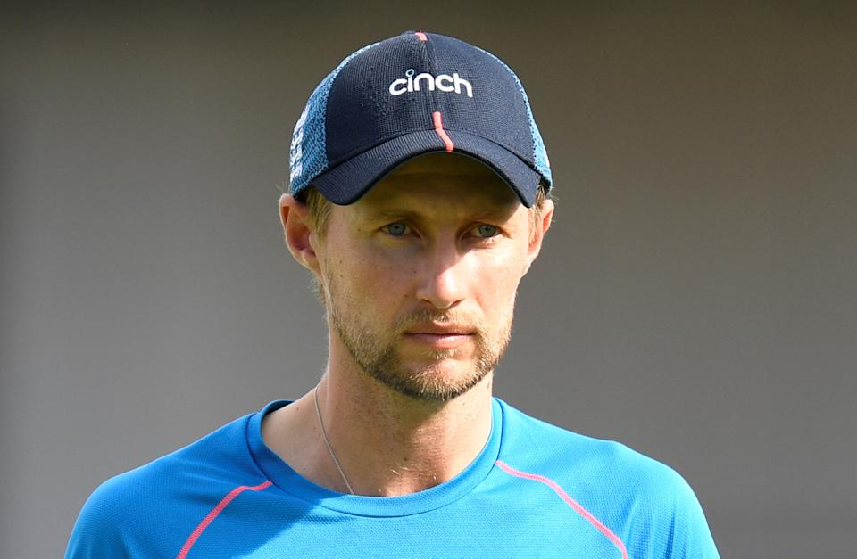England's captain Joe Root (pictured) attends training.