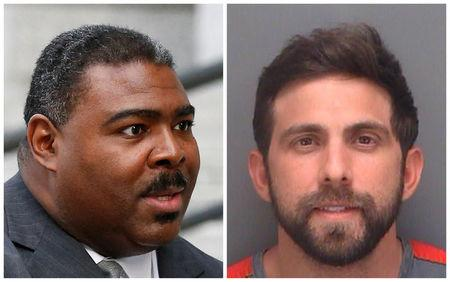 A combination photo shows Trevon Gross (L) in New York on February 1, 2017, and Anthony Murgio (R) in a Pinellas County Sheriff's Office booking photo that was released on August 4, 2015. REUTERS/File Photos