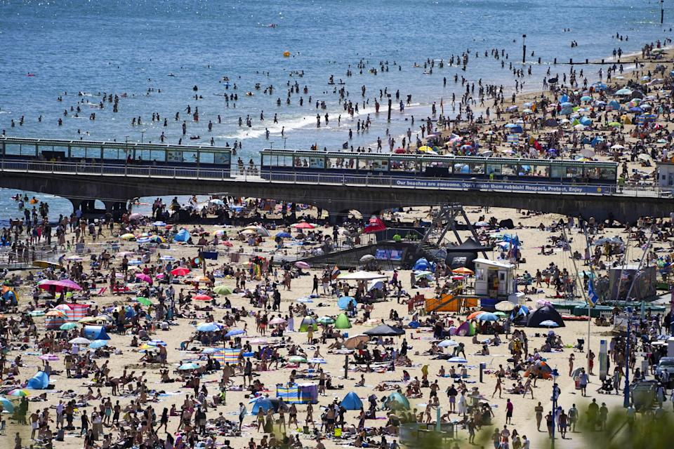 Beaches have been packed in the heatwave (PA Wire)
