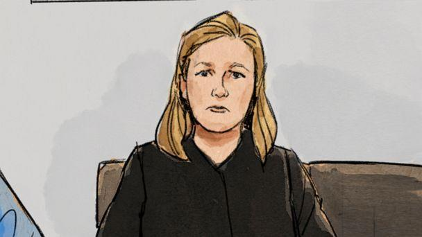 PHOTO: In this courtroom sketch, former Brooklyn Center police Officer Kim Potter is shown during a preliminary hearing, May 17, 2021, in Brooklyn Center, Minn.  (Cedric Hohnstadt via AP)