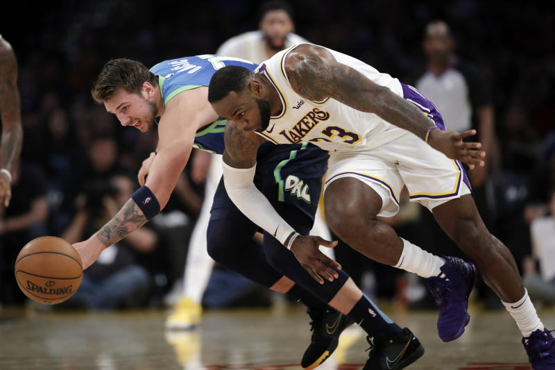 The race for All-Star captaincy between LeBron James and Luka Doncic is red hot. (AP Photo/Marcio Jose Sanchez)