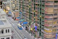 A blast from the past: the model's at Toma miniatures recreate the streets of Hong Kong from bygone eras