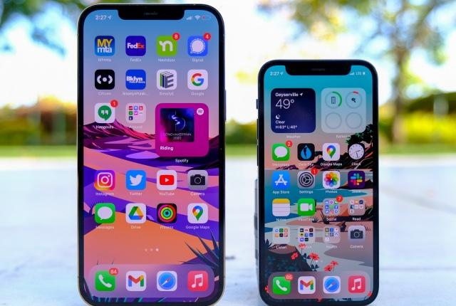 iPhone 12 Pro Max and iPhone 12 mini